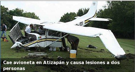 Avioneta en Atizapan